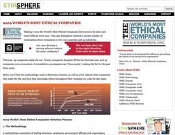 Screenshot from ethisphere.com.
