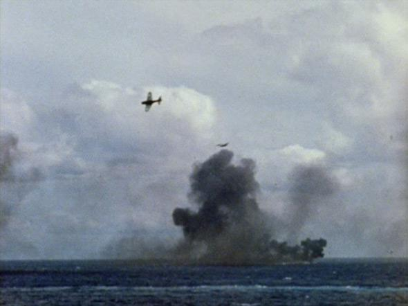 An image from the Battle of Midway.