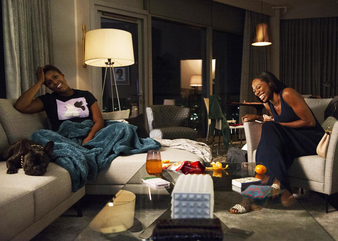 Issa Rae and Yvonne Orji in Insecure.