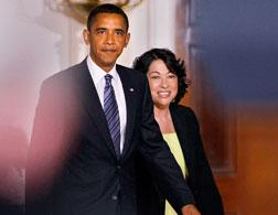 Barack Obama and Sonia Sotomayor. Click image to expand.