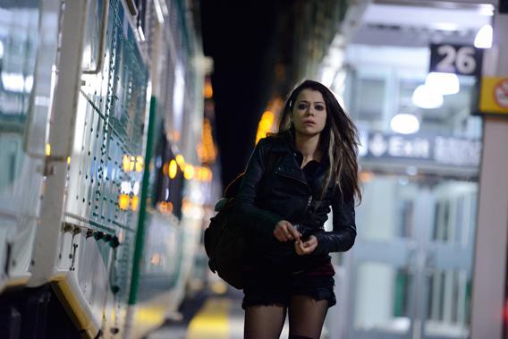 Sarah (Tatiana Maslany) in Orphan Black on BBC America.