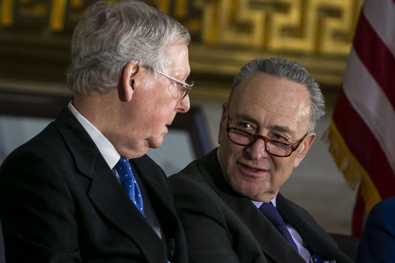 Senate Majority Leader Mitch McConnell, left, and Senate Minority Leader Chuck Schumer.