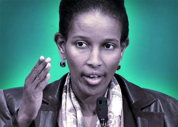 Activist and author Ayaan Hirsi Ali speaks at the National Press Club, April 7, 2015 in Washington, DC.
