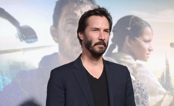 Keanu Reeves at the premiere of Cloud Atlas