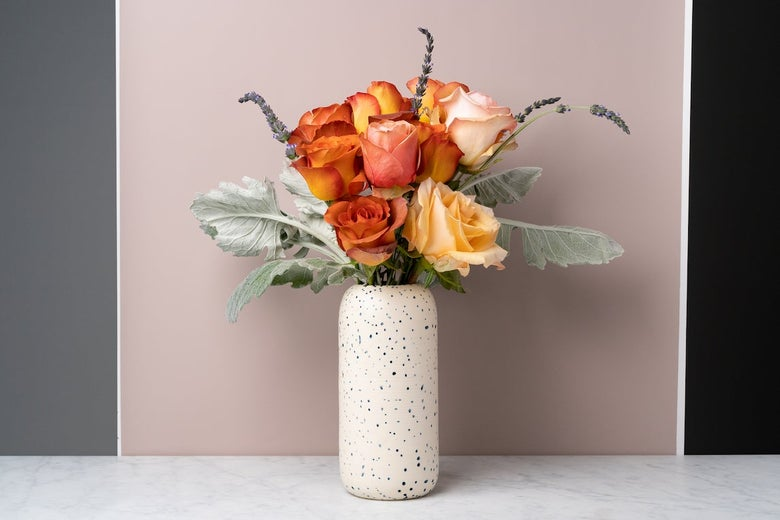 Assortment of flowers in a vase