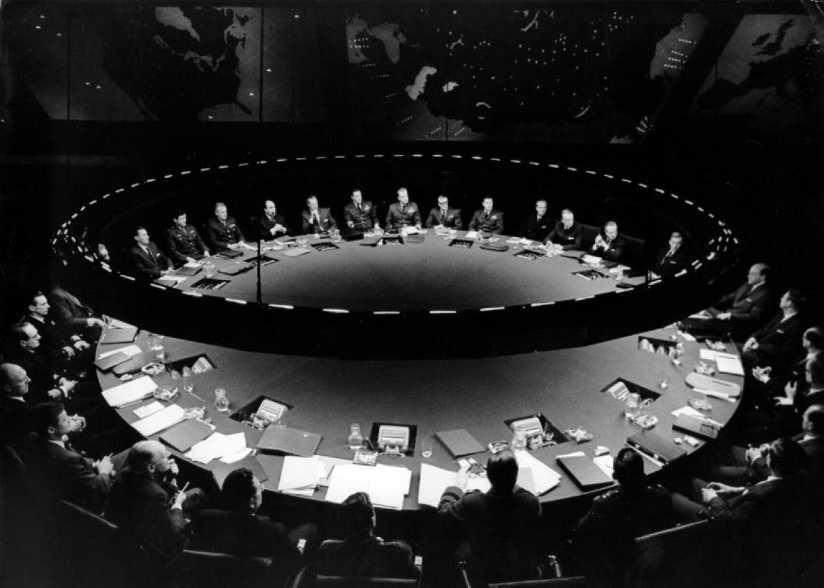 The war room from Dr Strangelove