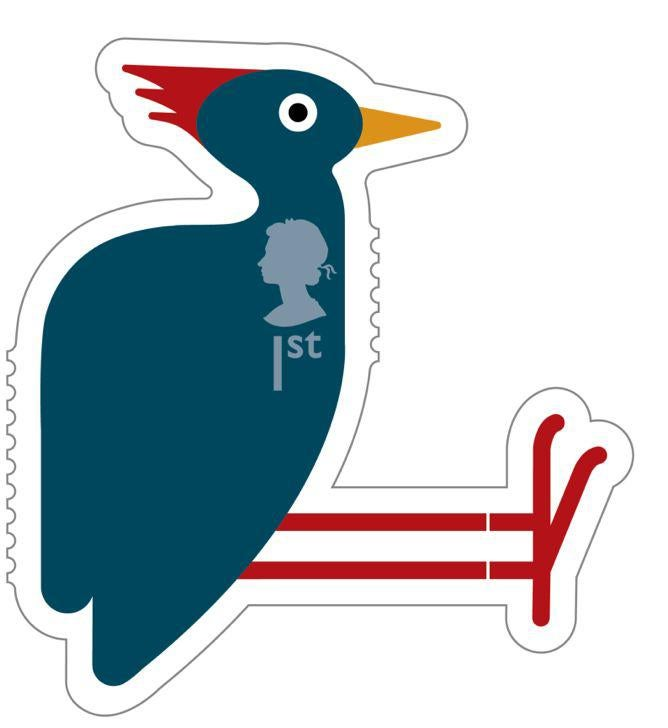 Animail Woodpecker stamp 400%