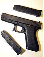 Glock 9 mm gun. Click image to expand.