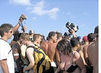 The horde of spectators