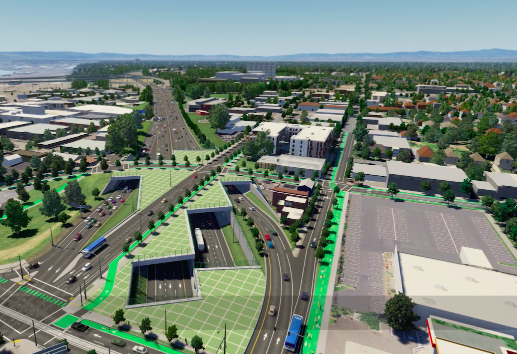 A rendering of the expanded highway.