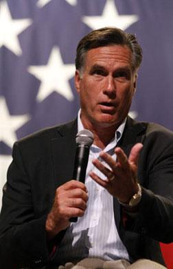 Former Republican Massachusetts governor Mitt Romney. Click image to expand.