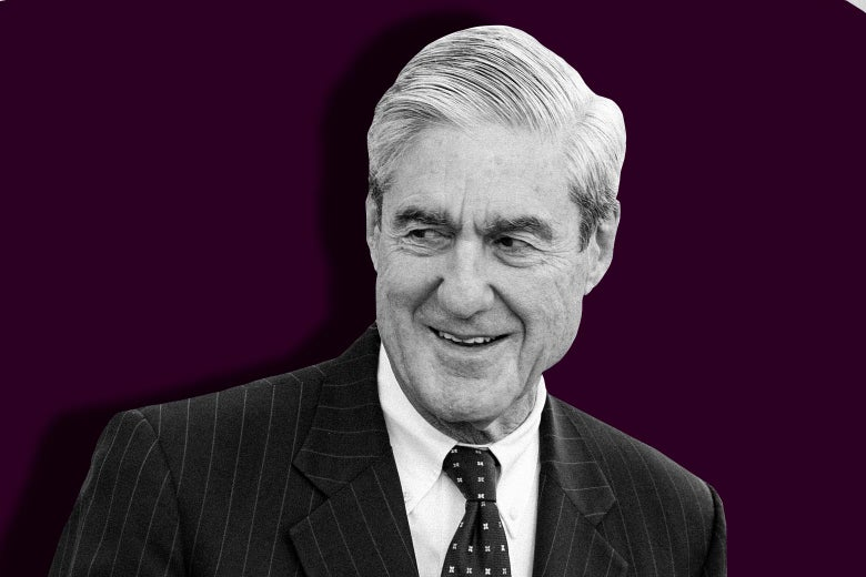 Mueller cracking a smile.