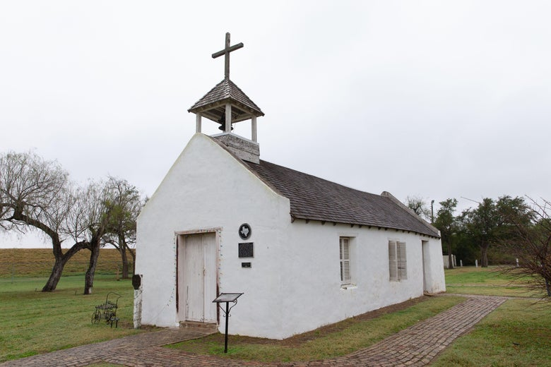 A small church in a rural area