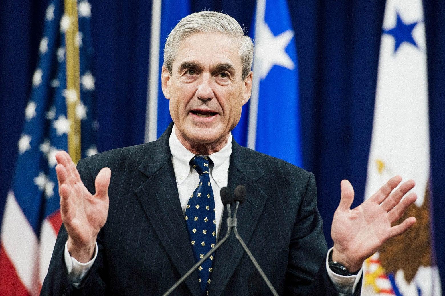 Robert Mueller, as seen in this 2013 photo during his tenure as FBI director.