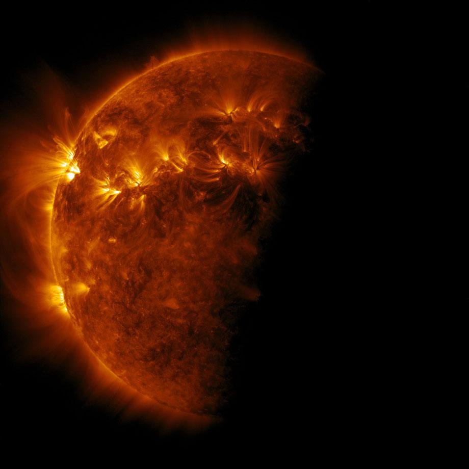 Eclipse of the Sun by the Earth, Solar Dynamics Observatory, April 2, 2011, 2012. Credit: NASA GSFC/Michael Benson, Kinetikon Pictures. (c) All Rights Reserved.