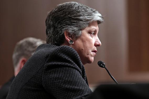 Homeland Security Secretary Janet Napolitano testifying on cybersecurity