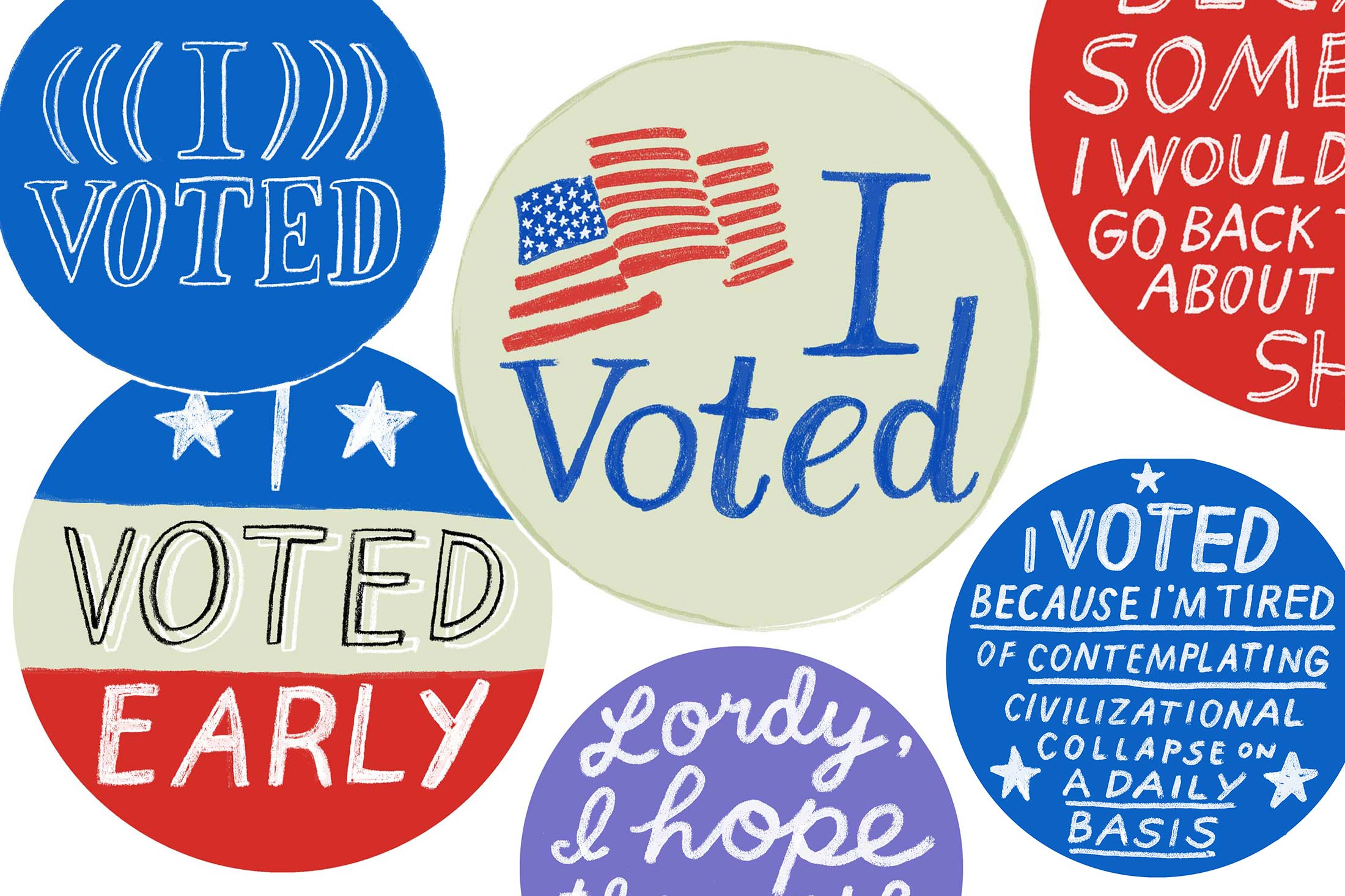 picture about I Voted Stickers Printable called I Voted\u201d stickers for the 2018 midterm elections: Print