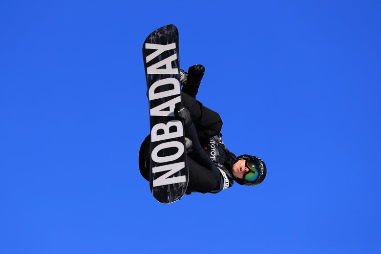 COPPER MOUNTAIN, CO - DECEMBER 10:  Max Parrot of Canada competes in the final of the FIS Snowboard World Cup 2018 Men's Big Air during the Toyota U.S. Grand Prix on December 10, 2017 in Copper Mountain, Colorado.  (Photo by Sean M. Haffey/Getty Images)