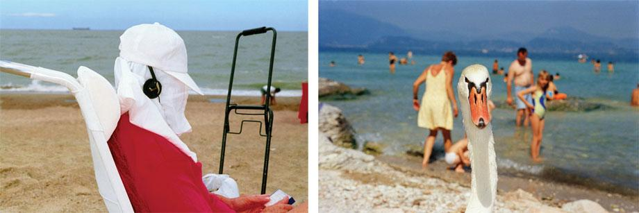Left: KNOKKE, Belgium—2001. Right: LAKE GARDA, Italy—1999. Both from Life's a Beach (Aperture, 2012).