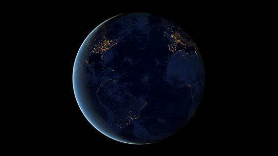 The Earth at night, made from Suomi NPP data