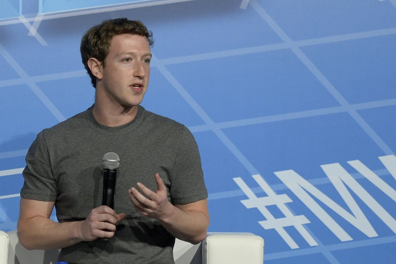 Mark Zuckerberg speaks on the opening day of the Mobile World Congress in Barcelona, on February 24, 2014, just after Facebook bought WhatsApp.
