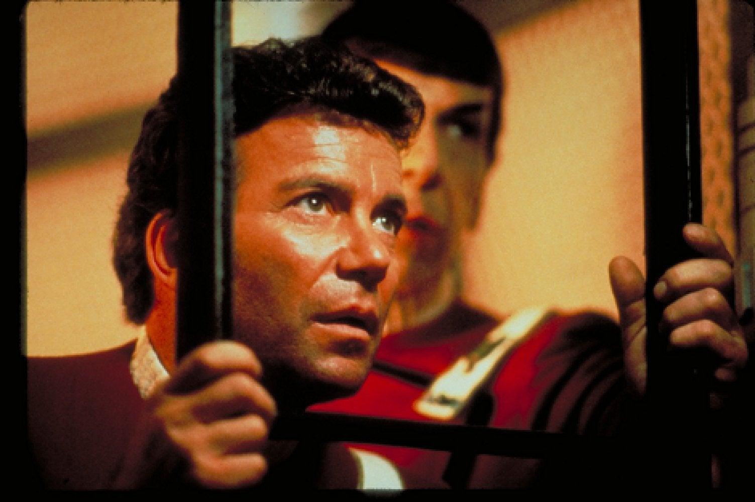 Leonard Nimoy and William Shatner in Star Trek: The Wrath of Khan