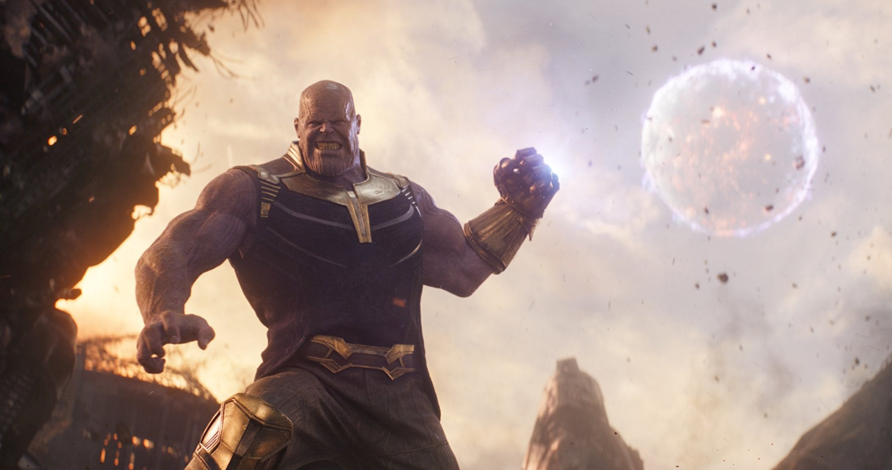 Thanos throws a moon, as one does.