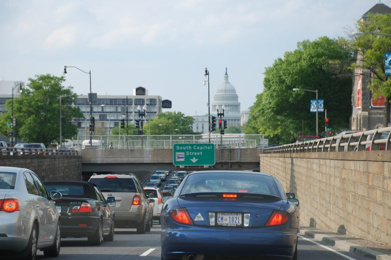 Traffic on North Capitol Street in Washington, D.C.