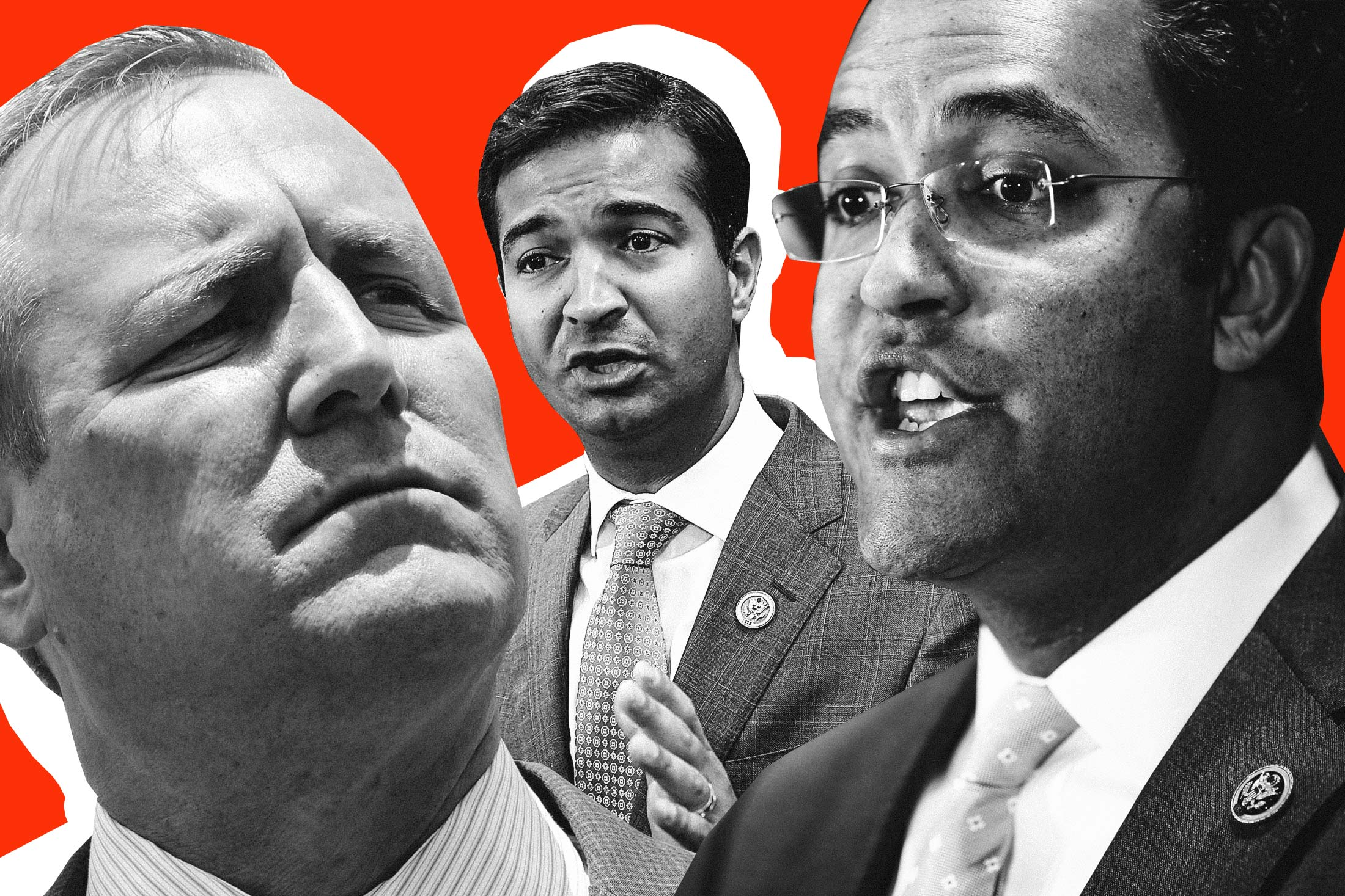 Republican Reps. Jeff Denham, Carlos Curbelo, Will Hurd.