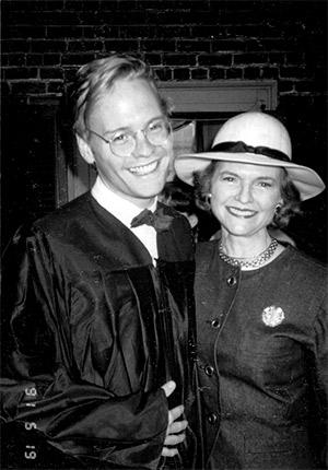 John Dickerson and his mother, Nancy Dickerson.