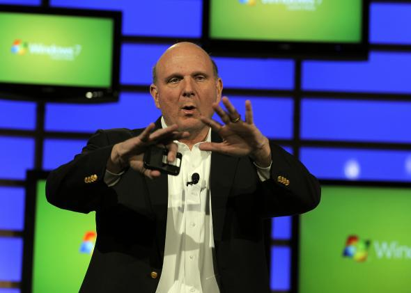 Microsoft CEO Steve Ballmer, unleashing human potential with a heart full of passion.