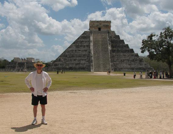 Phil Plait at the Tenmple of Kukulkan