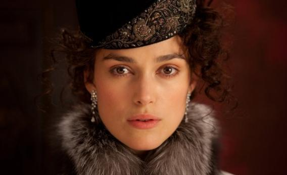 Keira Knightley plays Anna Karenina.