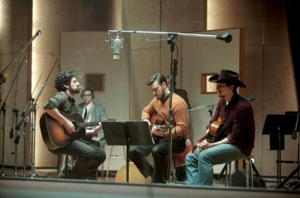 Oscar Isaac, Justin Timberlake and Adam Driver in Inside Llewyn Davis.