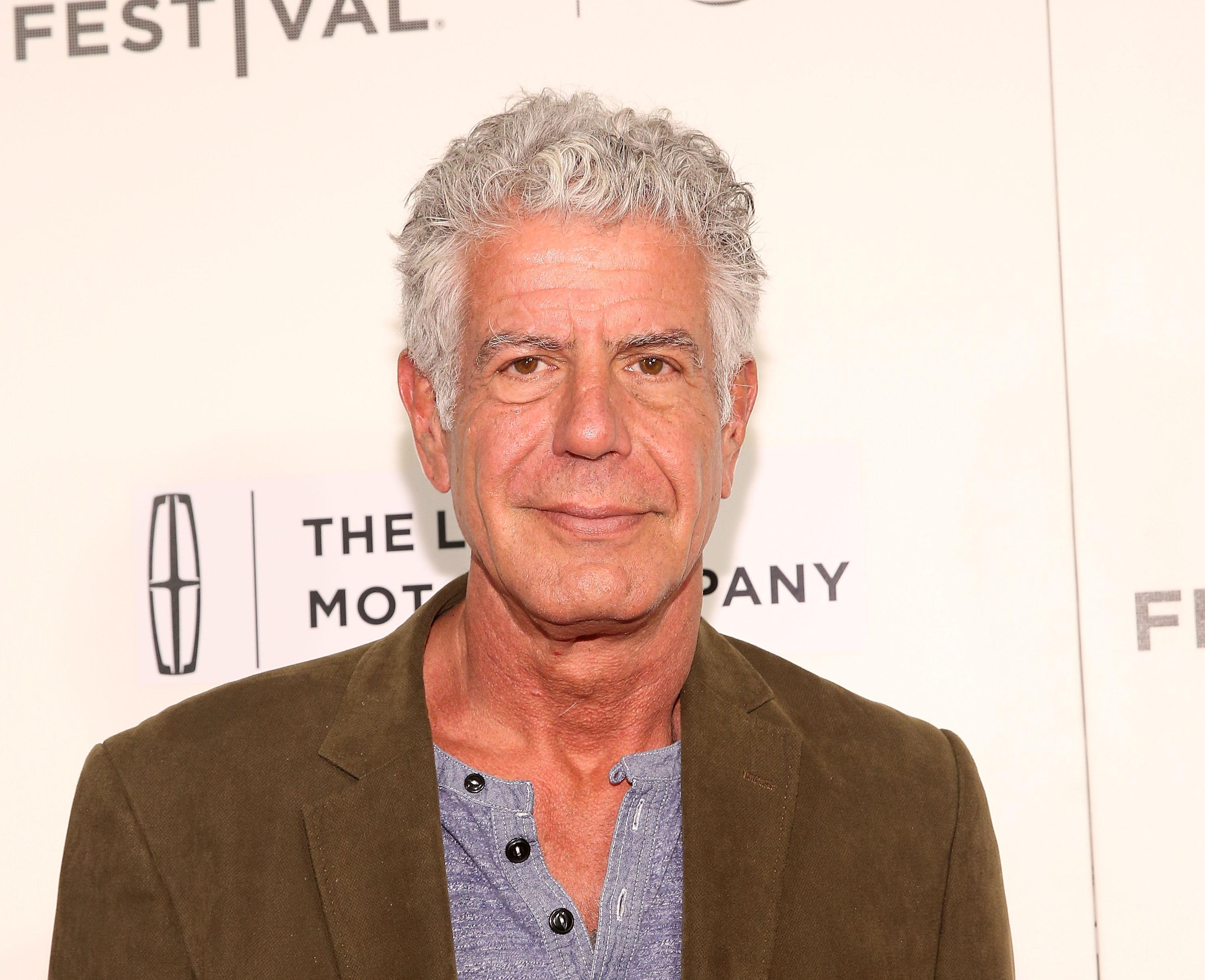 NEW YORK, NY - APRIL 22:  Anthony Bourdain attends 'WASTED! The Story of Food Waste' Premiere during 2017 Tribeca Film Festival at BMCC Tribeca PAC on April 22, 2017 in New York City.  (Photo by Robin Marchant/Getty Images for Tribeca Film Festival)