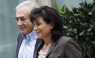 Former IMF chief Dominique Strauss-Kahn and his wife Anne Sinclair. Click image to expand.