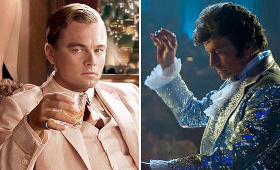 Leonardo DiCaprio as Jay Gatsby, Michael Douglas as Liberace.