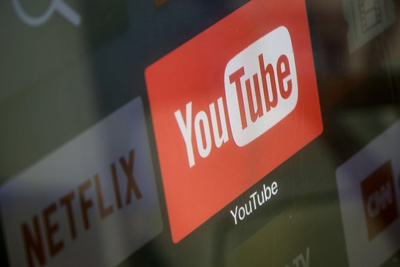 ISTANBUL, TURKEY - MARCH 23:  The YouTube and Netflix app logos are seen on a television screen on March 23, 2018 in Istanbul, Turkey. The Government of Turkish President Recep Tayyip Erdogan passed a new law on March 22 extending the reach of the country's radio and TV censor to the internet.  The new law will allow RTUK, the states media watchdog, to monitor online broadcasts and block content of social media sites and streaming services including Netflix and YouTube. Turkey already bans many websites including Wikipedia, which has been blocked for more than a year. The move came a day after private media company Dogan Media Company announced it would sell to pro-government conglomerate Demiroren Holding AS. The Dogan news group was the only remaining news outlet not to be under government control, the sale, which includes assets in CNN Turk and Hurriyet Newspaper completes the governments control of the Turkish media.  (Photo by Chris McGrath/Getty Images)