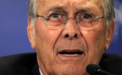 Former Secretary of Defense Donald Rumsfeld. Click image to expand.