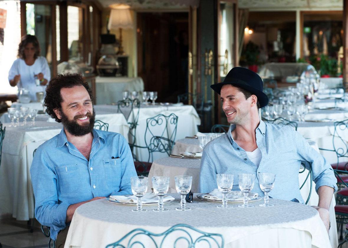 Matthew Goode and Matthew Rhys in The Wine Show.