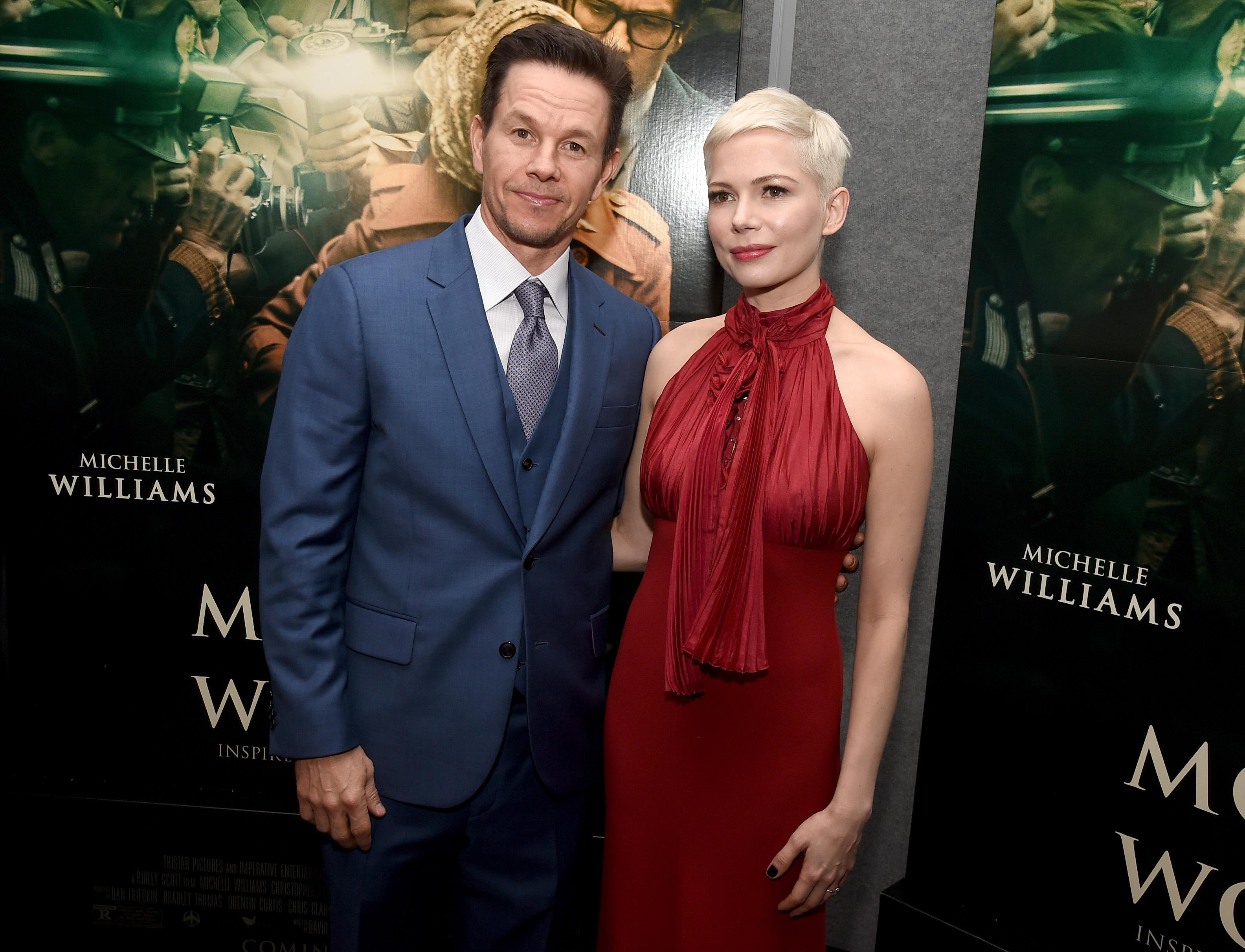 Mark Wahlberg and Michelle Williams attend the premiere 'All The Money In The World.