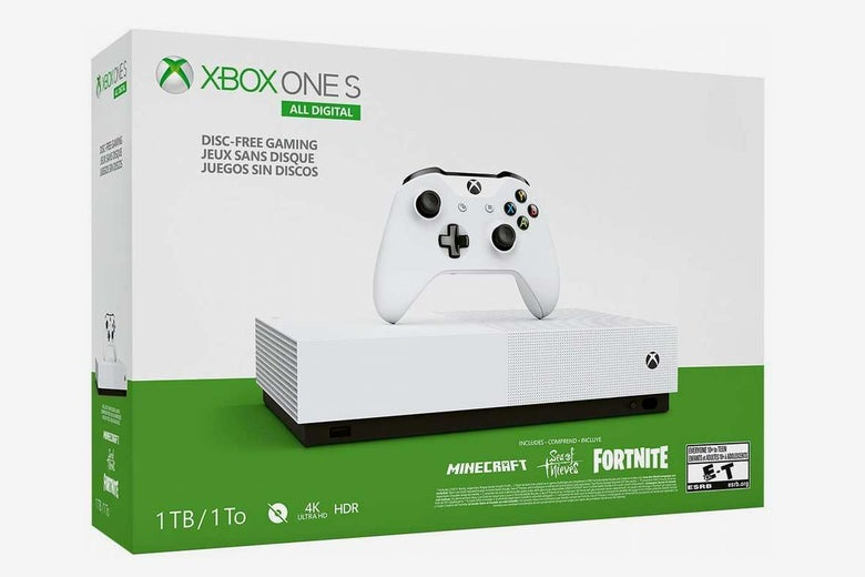 Microsoft Xbox One S 1 TB Disc-Free Console with Wireless Controller