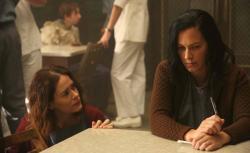 Sarah Paulson as Lana Winters, Franka Potente as Kassie in 'American Horror Story: Asylum.'