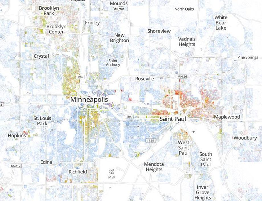 Segregation in America: Every neighborhood in the U.S. mapped along on
