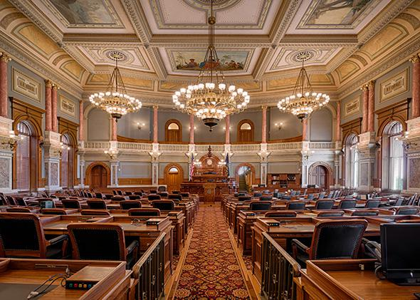 House of Representatives chamber of the Kansas State Capitol bu, House of Representatives chamber of the Kansas State Capitol building