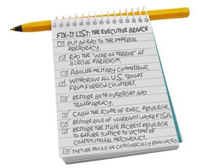 Fix-it List: Executive Branch