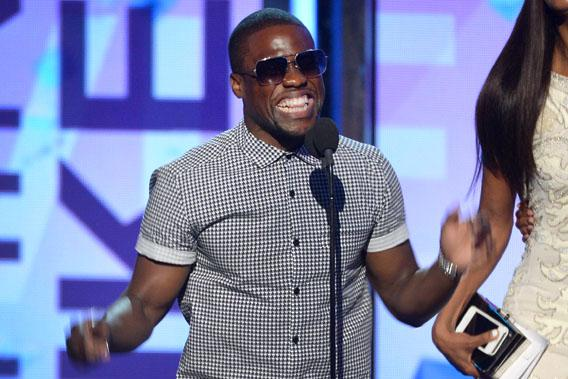Actor Kevin Hart speaks onstage during the 2013 BET Awards at Nokia Theatre L.A. Live on June 30, 2013 in Los Angeles, California.