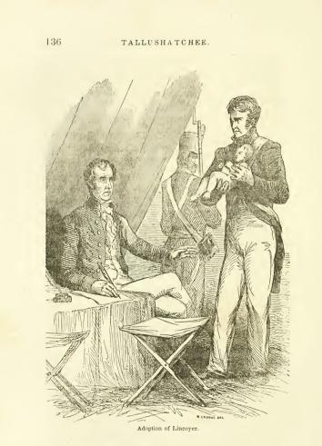 Illustration from John Frost's 1860 biography, A Pictorial History of Andrew Jackson.