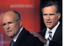 Rudy Guiliani and Mitt Romney. Click image to expand.