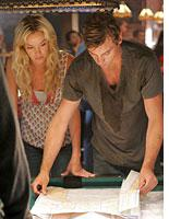 Skeet Ulrich and Ashley Scott in Jericho          Click image to expand.